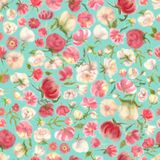 Watercolor flower seamless pattern, blur floral vector illustration