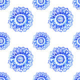 Watercolor flower seamless pattern Royalty Free Stock Image