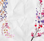 Watercolor flowers background Stock Photography
