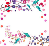 Watercolor flowers background Stock Photo