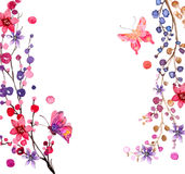 Watercolor flowers background Royalty Free Stock Photography