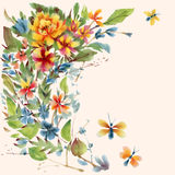 Watercolor flowers Royalty Free Stock Photography