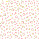 Watercolor flowers cute seamless pattern Royalty Free Stock Photography