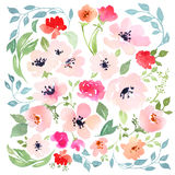 Watercolor flowers Stock Image
