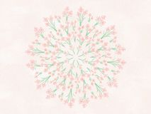 Watercolor Flowers Floral Mandala Illustration Stock Images