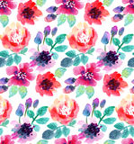Watercolor flowers. Stock Photography