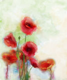 Watercolor flowers painting Stock Photography