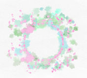 Watercolor flowers on paper texture background. Abstract colorfu Royalty Free Stock Images