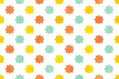 Watercolor flowers pattern. Stock Photos