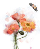Watercolor Flowers Stock Photos