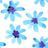 Watercolor flowers seamless Royalty Free Stock Image