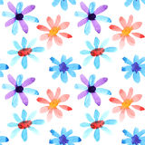 Watercolor flowers seamless Stock Photography
