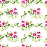 Watercolor flowers, seamless pattern. Royalty Free Stock Photography