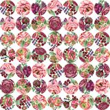 Watercolor flowers  seamless pattern. Watercolor flowers seamless pattern. hand-drawn botanical illustration. floral composition for congratulations Stock Photography