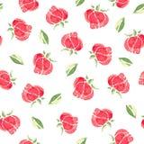 Watercolor flowers. Seamless pattern stock photo