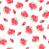 Watercolor flowers. Seamless pattern royalty free stock photo