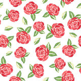 Watercolor flowers. Seamless pattern royalty free stock image