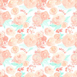 Watercolor flowers. Seamless pattern. Vector. Illustration. Stock Photos
