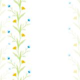 Watercolor flowers  spring seamless pattern Stock Image
