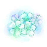 Watercolor flowers. Vector illustration. Watercolor frash flowers. Vector illustration EPS 10 Stock Photography