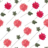 Watercolor flowers. Vector illustration. Stock Photo