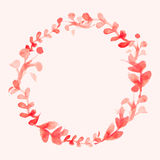 Watercolor flowers wreath. Hand painted wedding illustration. Ve Royalty Free Stock Images