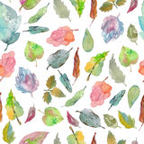 Watercolor foliage pattern Stock Image