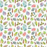 Watercolor foliage pattern Stock Photography