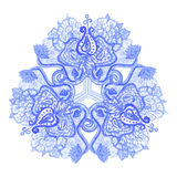 Watercolor folk mandala pattern Stock Image