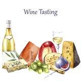 Watercolor food illustration. Stock Image