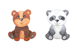 Watercolor forest animal children illustration Royalty Free Stock Photo