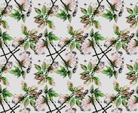 Watercolor forest pattern. Watercolor branches. Forest design. Seamless nature pattern Royalty Free Stock Photo