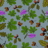 Watercolor forest pattern. Vector 1 Royalty Free Stock Photos