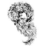 Watercolor fox Stock Photos