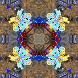 Watercolor Fractal Universe Color Stock Images