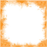 Watercolor frame. Abstract grunge orange  watercolor frame Stock Photography