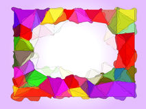 Watercolor frame with cartoon triangles Stock Images