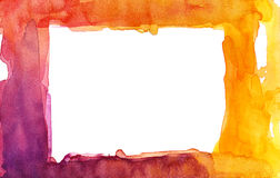 Watercolor frame design Stock Photography