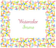 Watercolor frame Stock Photos