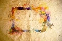Watercolor frame, old paper background Royalty Free Stock Photos