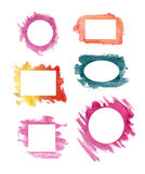 Watercolor frame set Stock Images