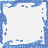 Watercolor frame wave. Vector Stock Photo