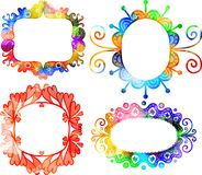 Watercolor Frames Stock Image