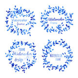 Watercolor frames Royalty Free Stock Images