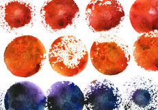 Watercolor freehand splotches Stock Photos