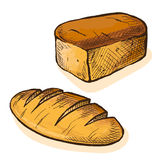 Watercolor Fresh Bread royalty free illustration