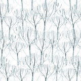 Watercolor frost pattern Stock Images