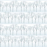 Watercolor frost pattern Stock Photos