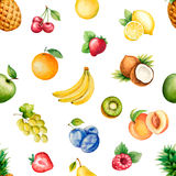 Watercolor fruits Royalty Free Stock Photos