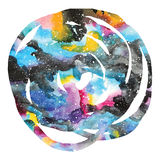 Watercolor galaxy background. Royalty Free Stock Photos